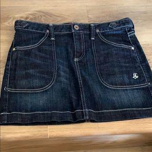 AG Jean mini skirt w pockets